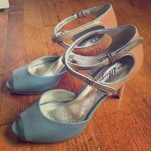 Anthropologie Miss Albright Peep Toe Heels 8.5